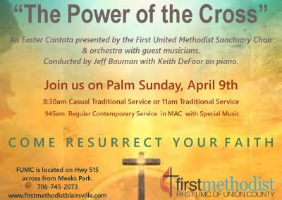 Palm Sunday Schedule