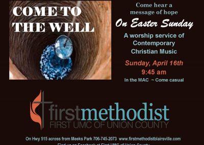 9:30 service Easter Schdule
